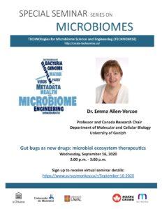 Poster Dr. Emma Allen-Vercoe
